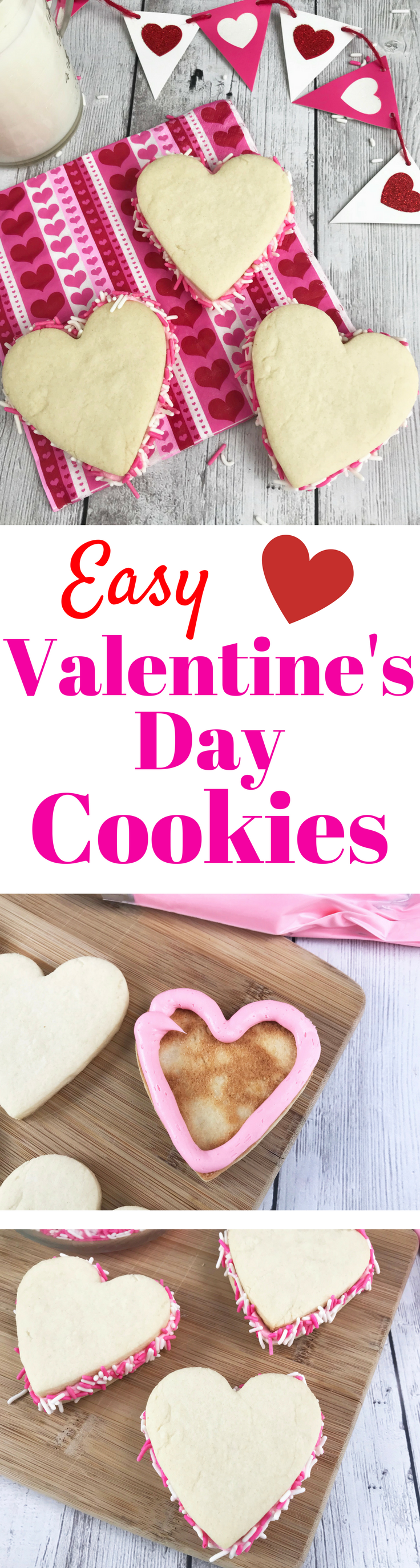 Valentine's Day Sandwich Cookies, Valentine's Day Cookies, Easy Treats for Valentine's Day, Heart Shaped Cookies