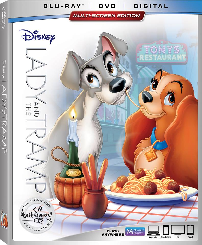 Lady and the Tramp Blu Ray 2018