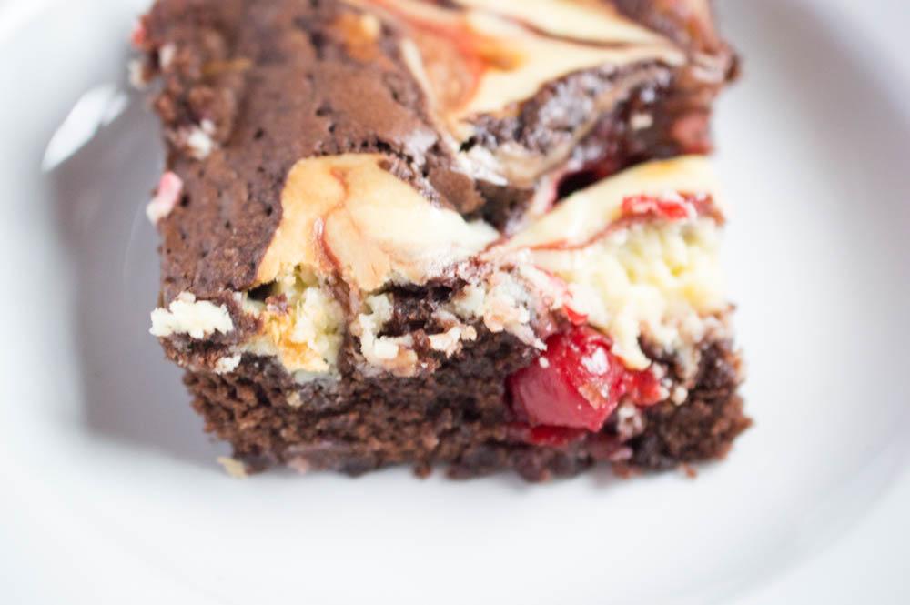Cherry Cheesecake Brownies, Easy Dessert Recipe, One Bowl Brownies, Easy Brownie Recipe