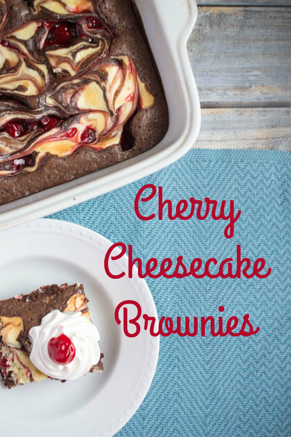 Cherry Cheesecake Brownies, Easy Dessert Recipe, One Bowl Brownies, Easy Brownie Recipe