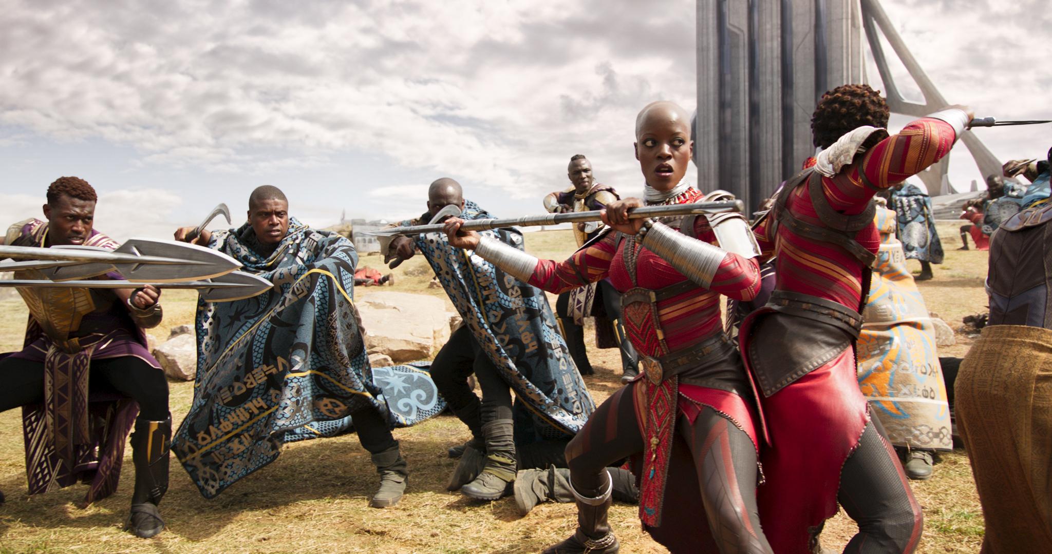 Lupita Nyong'o and Danai Gurira, Lupita Nyong'o and Danai Gurira, Female Cast of Black Panther, Lupita and Danai Black Panther Interviews, Black Panther