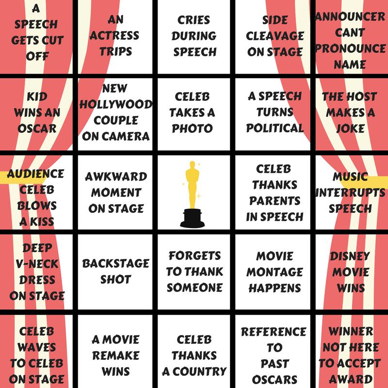 Oscar Bingo, Academy Award Party, Oscar Games