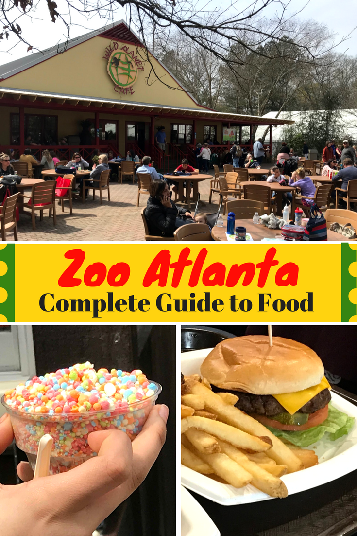 Plan your visit to Zoo Atlanta and find out all of the available food options: what's new, vegetarian options, prices and even picnic locations! #ZooAtlanta #AtlantaTravel #AtlantaFamily #AtlantaTips #AtlantaGeorgia