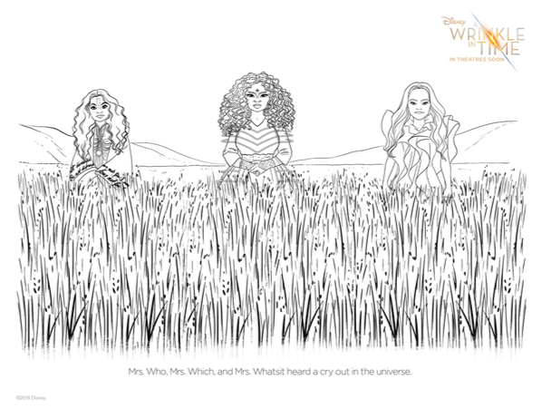 printable Wrinkle in Time Coloring pages, printable 'Wrinkle in Time' Coloring pages, Wrinkle in time, Wrinkle in time activity sheet