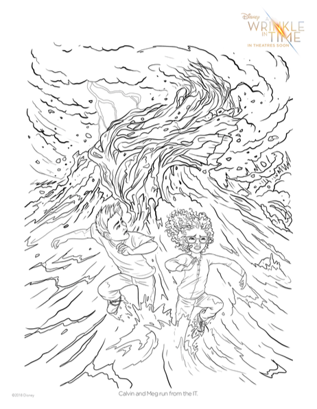 printable 'Wrinkle in Time' Coloring pages, Wrinkle in time, Wrinkle in time activity sheet